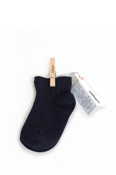 Ankle Socks Black Collegien