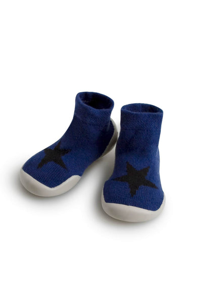 Wool Cashmere Slippers Blue Star