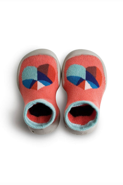 Graphic Heart Slippers