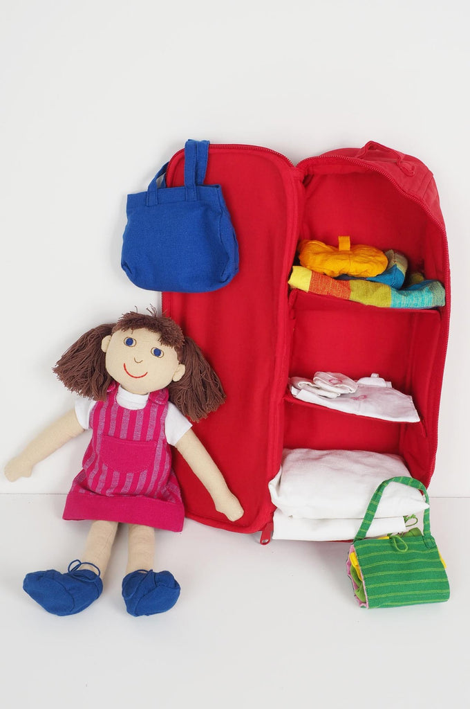 Dora - girl doll with wardrobe