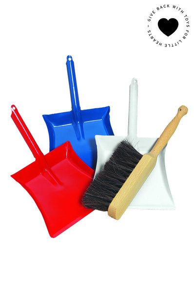 Children's dust pan and broom