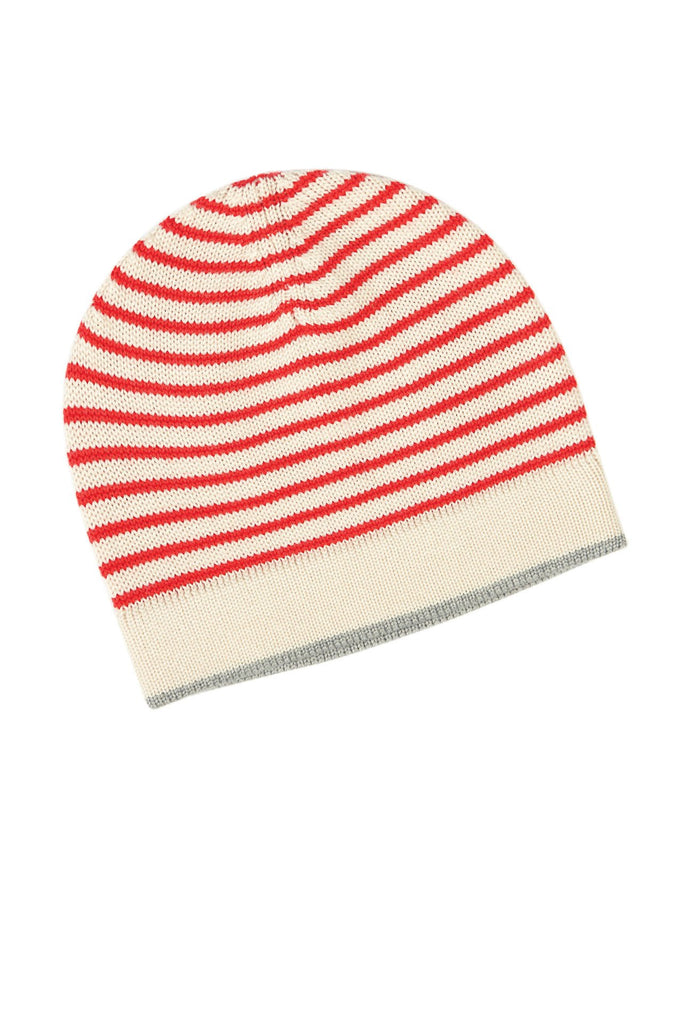 Hat ecru/red