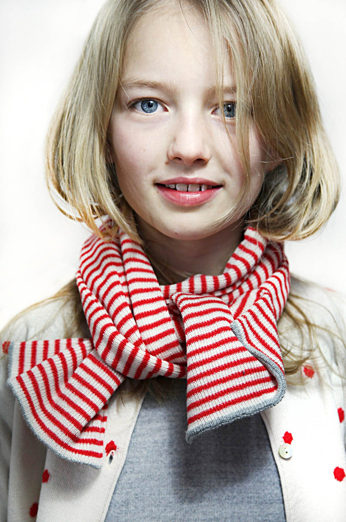 Scarf Ecru/Red