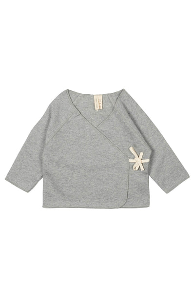 Crossover Top Grey Melange