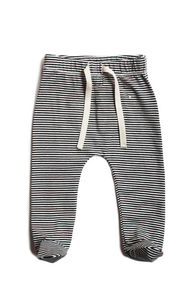 Footies Striped Gray Label