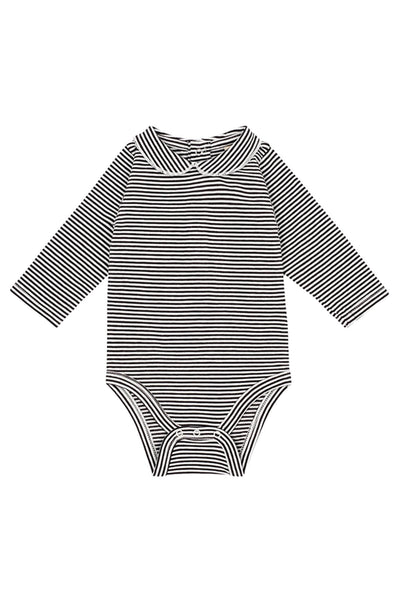Gray Label  Baby Onesie with Collar