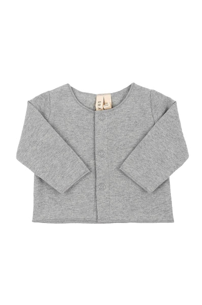 Baby Cardigan Grey Melange Gray Label