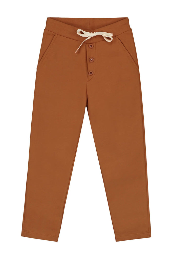 Gray Label  Chino with buttons Red Earth