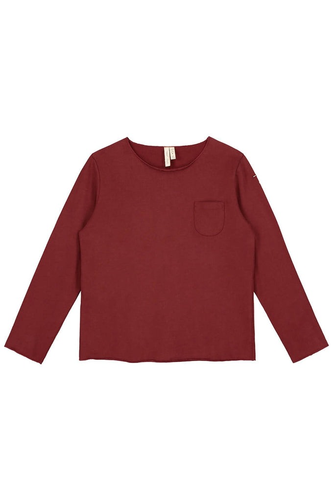 Pocket L/S Tee Burgundy