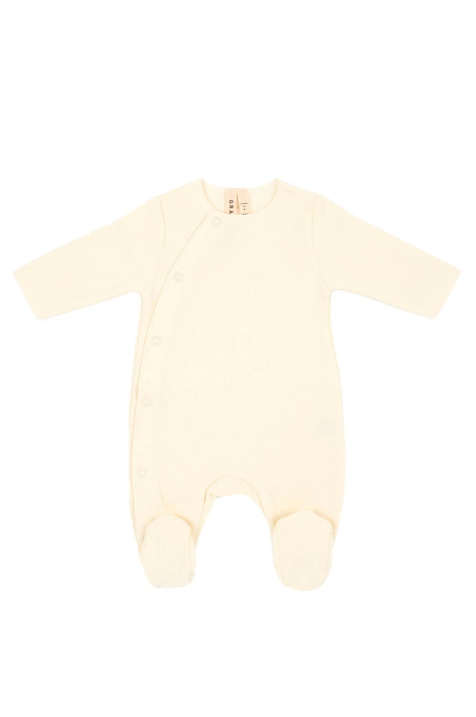 Newborn Suit with Snaps Cream