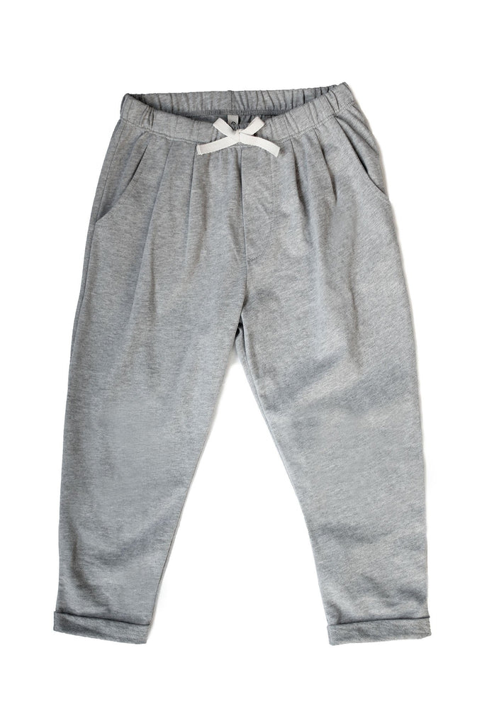 Summer Pleated Pants Grey Melange
