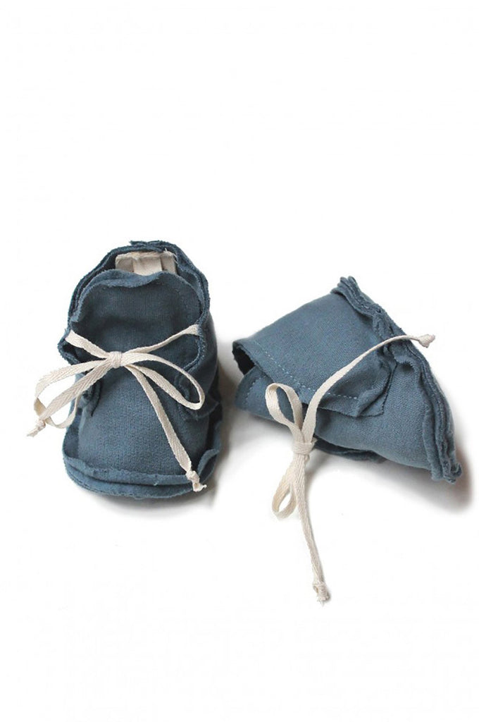 Raw Edged Booties Denim