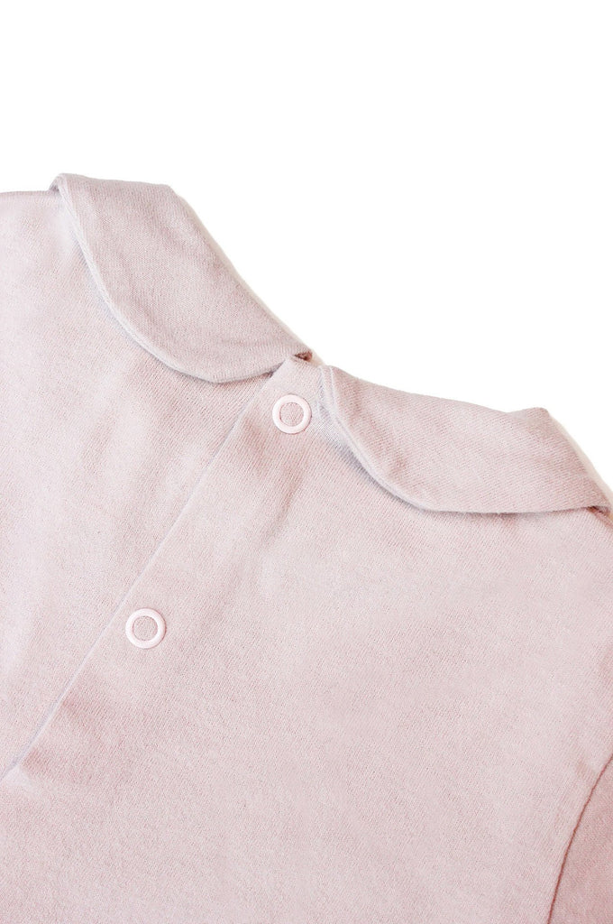 Baby Collar Tee  NEW FABRIC Vintage Pink