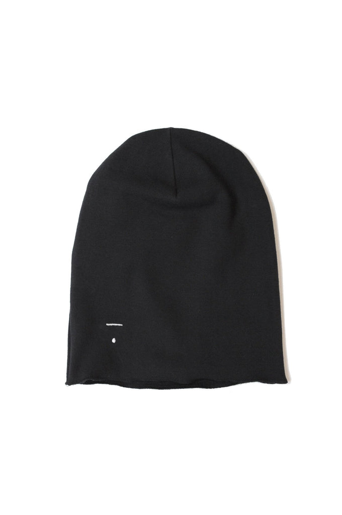 Beanie Nearly Black Gray Label