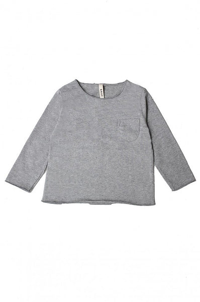 L/S Pocket Tee Grey Melange