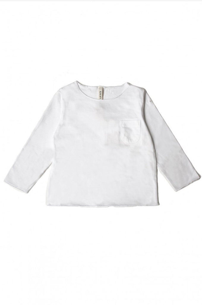 L/S Pocket Tee White