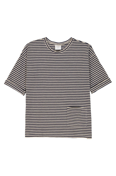 Kids on the Moon Striped 3/4 Sleeve Top