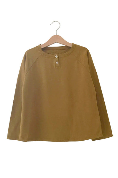 FLOO LONG SLEEVED TEE CURCUMA Le Petit Germain