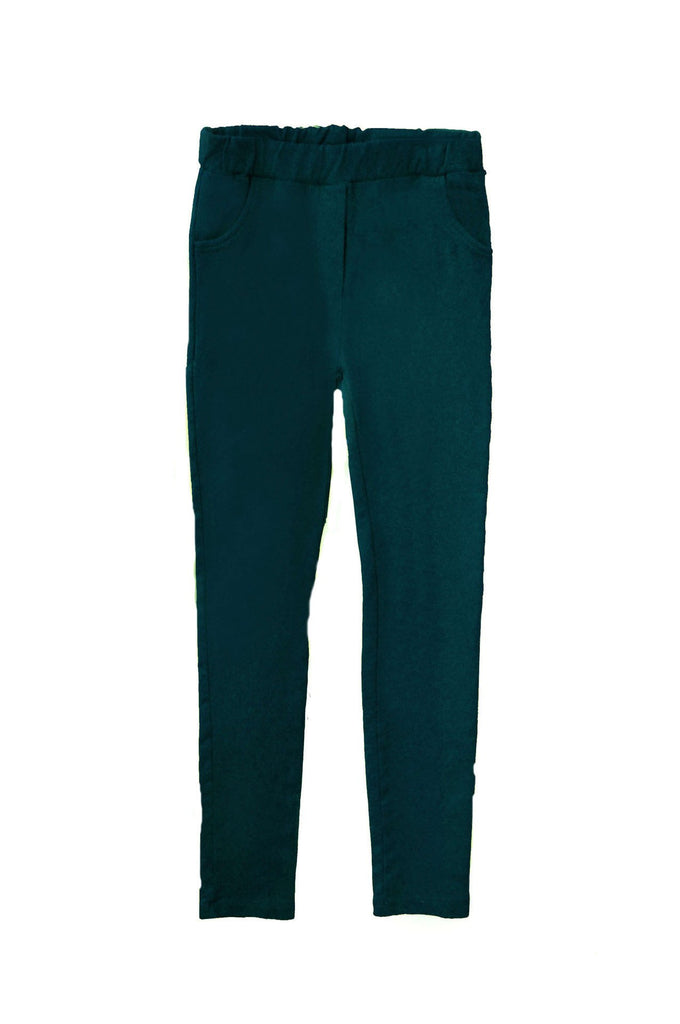 Slim Pants Folk Winter Sea Blue