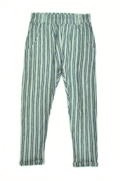 Chino Striped Trousers Peacefull Green