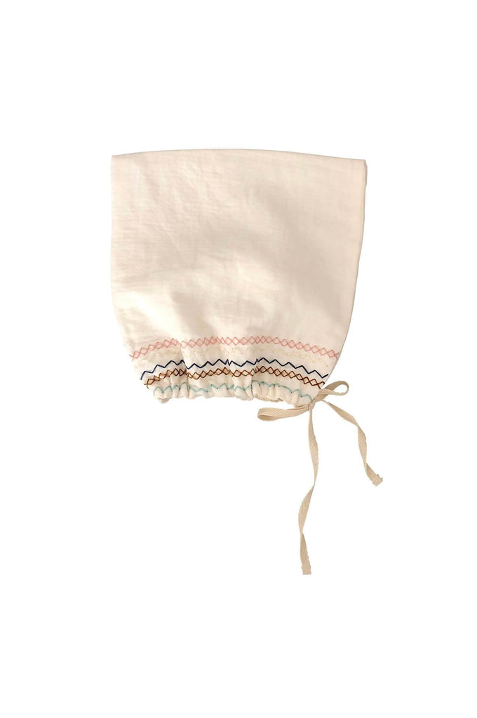 liilu SMOCK PIXIE BONNET CRU NATURAL