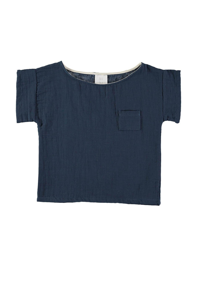 liilu POCKET SHIRT ANTRA BLUE