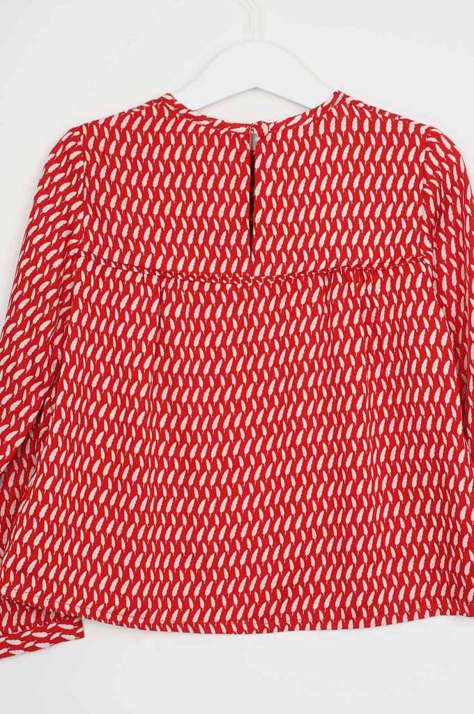 Bossa Woven Top Red