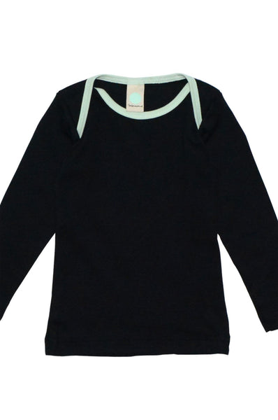 Organic longsleeve with envelope neck Macarons