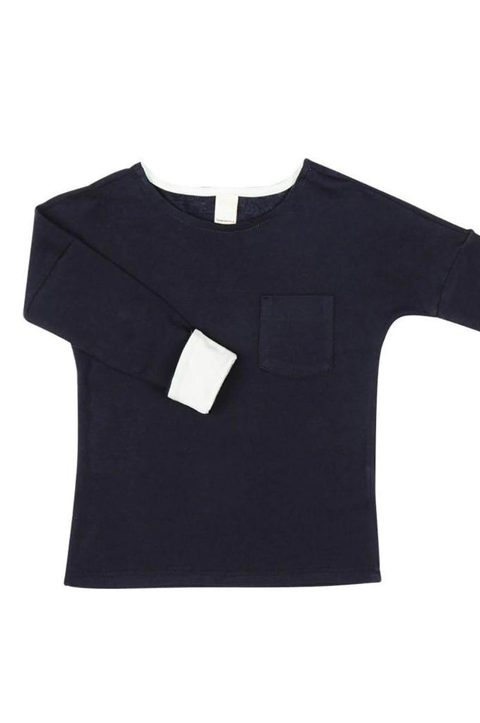 Pocket T-Shirt navy with mint Macarons
