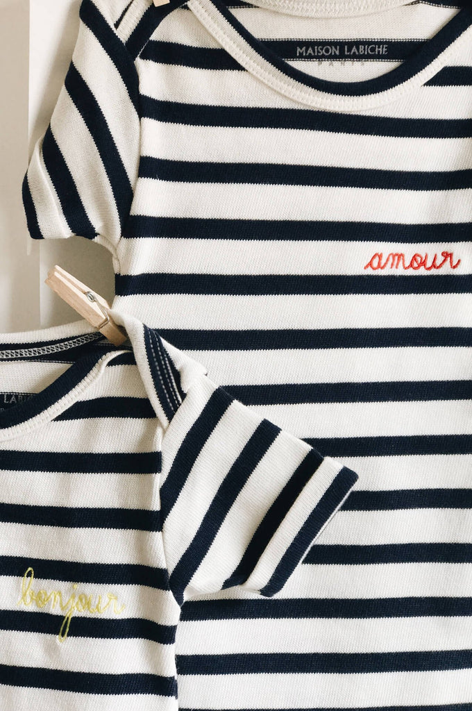 Striped Onesie Amour Maison Labiche