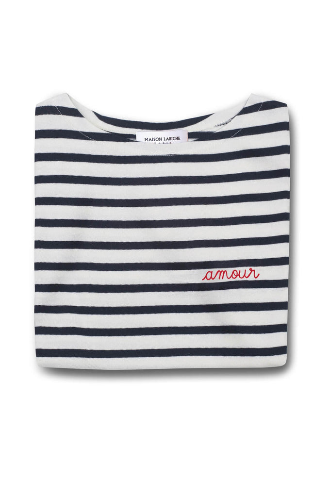 Maison Labiche  Striped Long-Sleeve Tee Amour