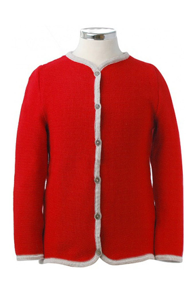 Cardigan Red With Sand Marie Morenz