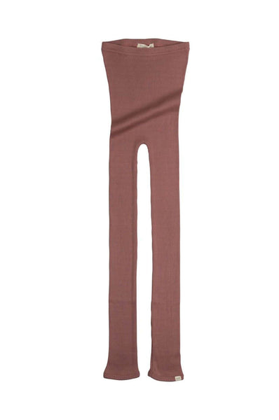 BIEBER Silk-Cotton Leggings Antique Red minimalisma