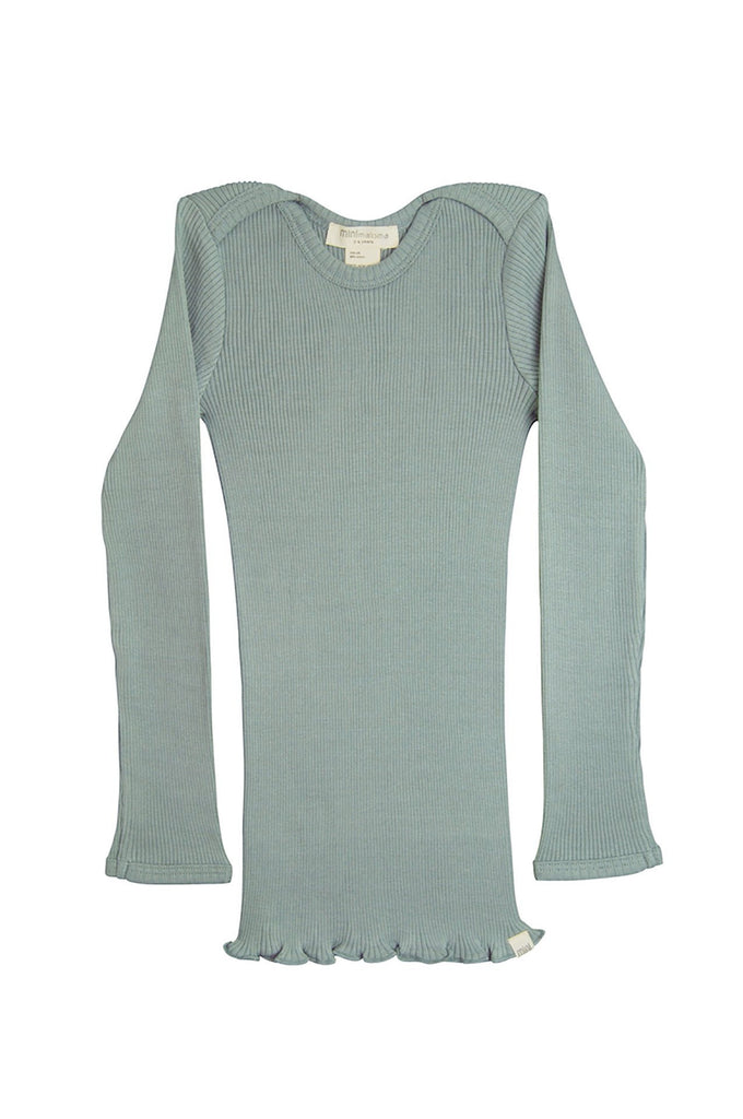 BELFAST Silk-Cotton Top Pale Jade