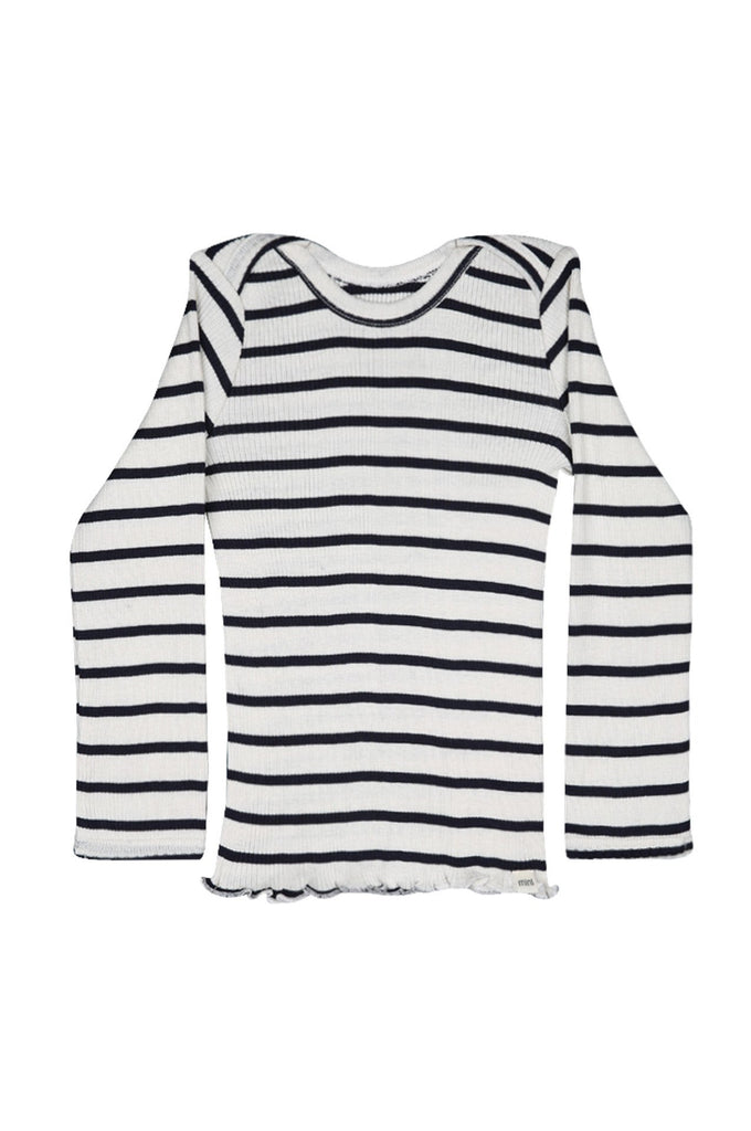 Silk-Cotton Belfast Top Sailor