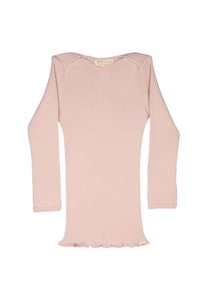 Silk-Cotton Belfast Top Sweet Rose