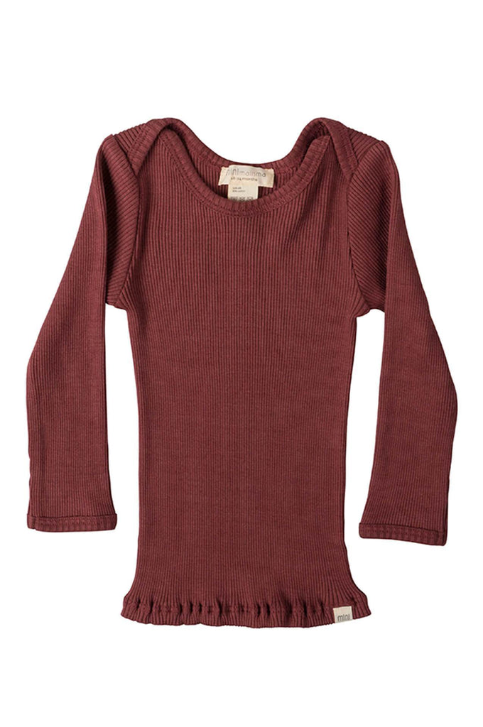 BELFAST Silk-Cotton Top Burnt Red