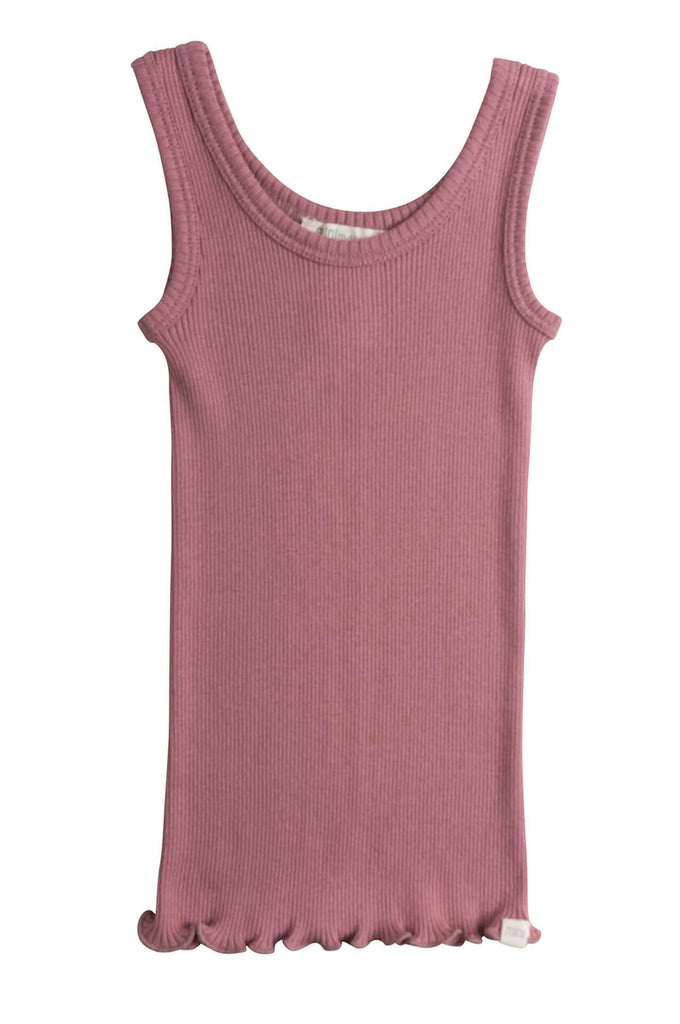 BILLUND Silk-Cotton Tank Top Cozy Rose minimalisma