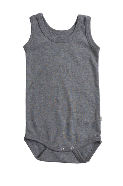 Organic Cotton Sleeveless Body Nemo grey melange minimalisma