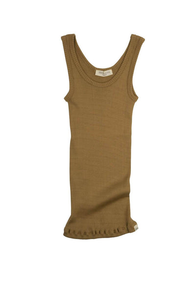 BILLUND Silk-Cotton Tank Top Golden Leaf