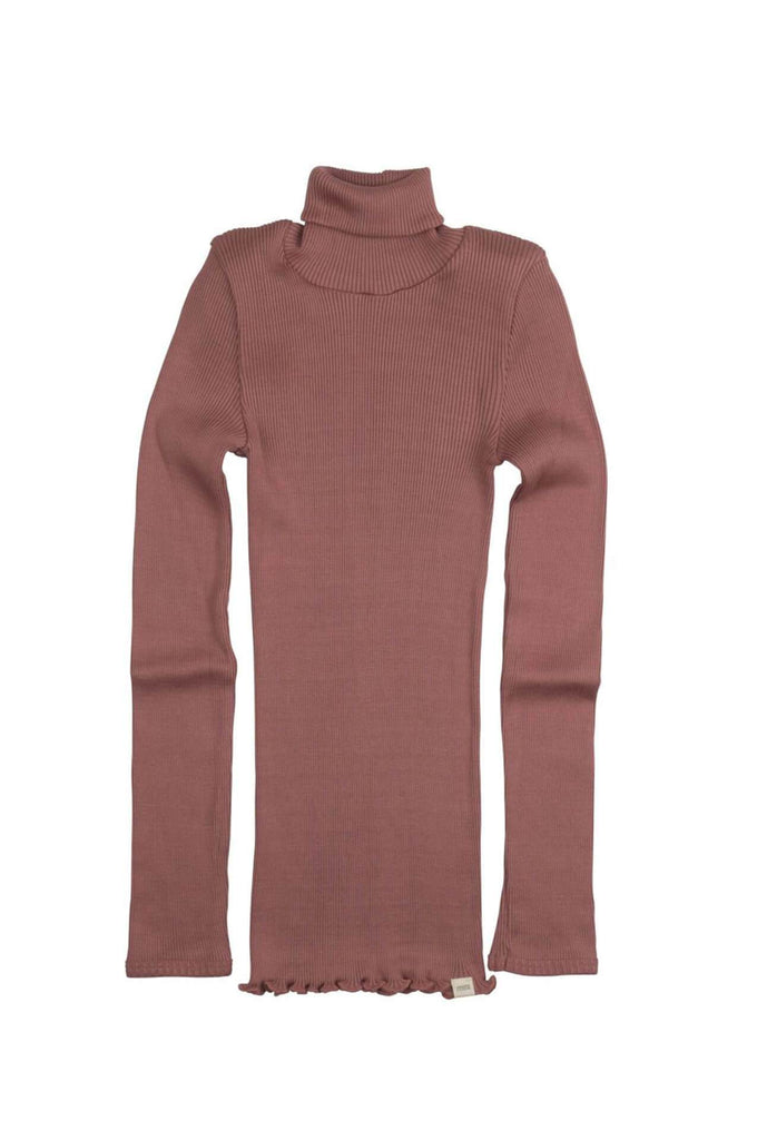 BUI Silk-Cotton Turtleneck Antique Red minimalisma