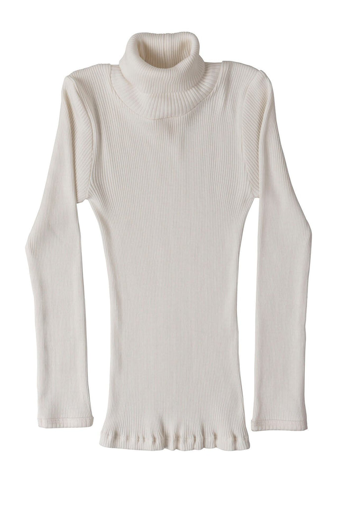 BUI Silk-Cotton Turtleneck Top Cream minimalisma