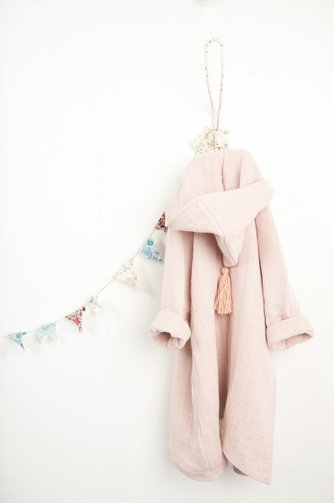 Bathrobe Pépin in faded pink