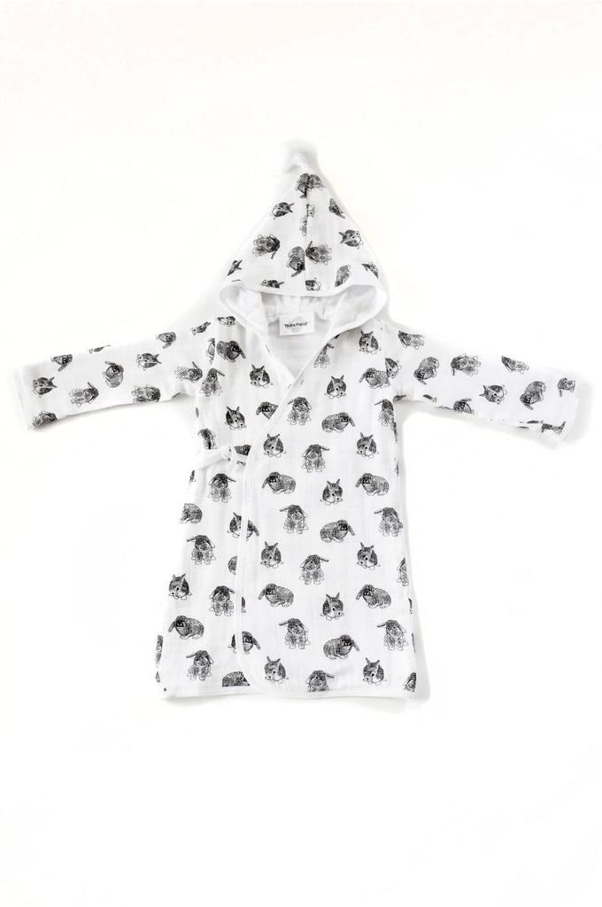 Bathrobe Pépin in rabbit print