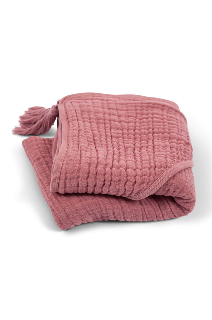 Bath Cape Sybel in old pink Moumout
