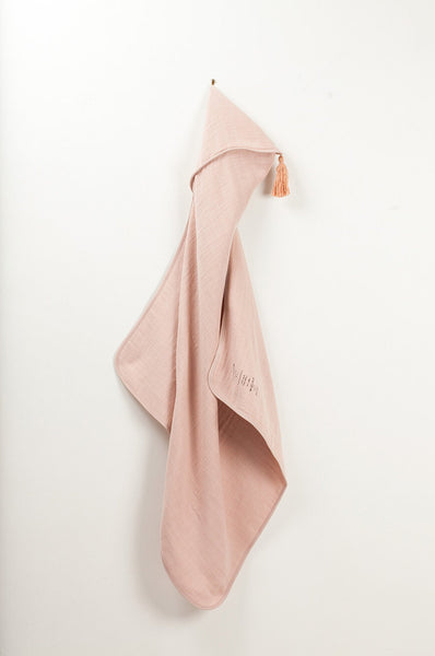 Bath Cape in faded-pink