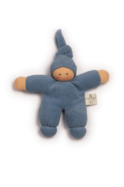 Pimpel terry cloth doll in blue Nanchen Natur