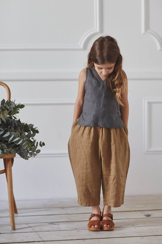 Nobonu HANA TROUSERS GOLDEN OCRE