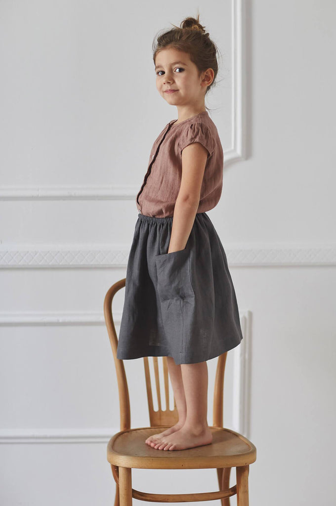 Nobonu EMMA SKIRT DARK GREY