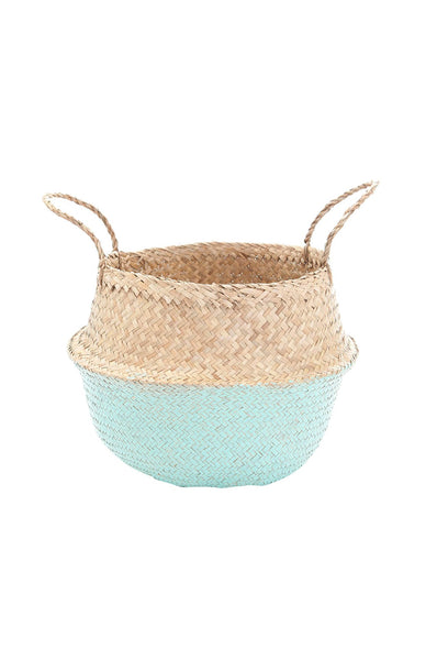 Olli Ella  Mint Dipped Belly Basket - Medium